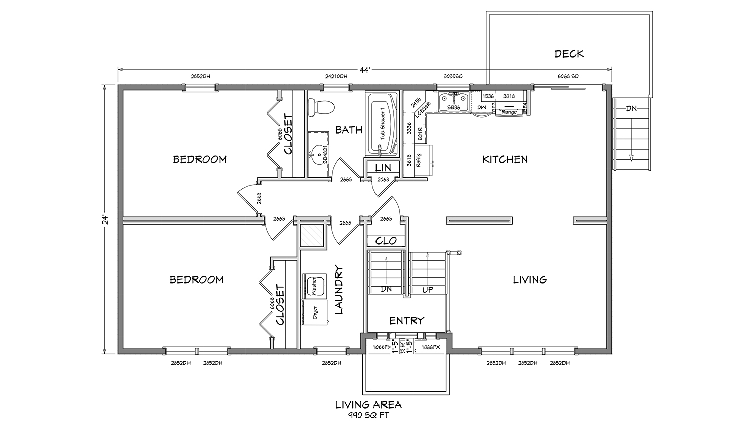 Bl001 cape cod modular home floor plan 01 glenco inc for Cape cod house layout