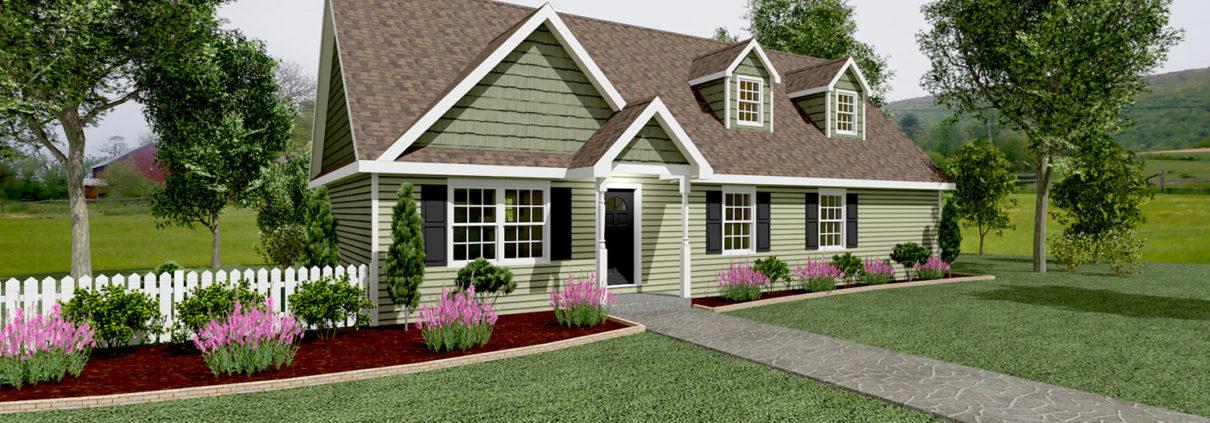 CC201 Cape Cod Home Rendering